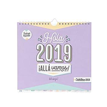 Mr. Wonderful - Calendario pared hola, 2019 allá vamos
