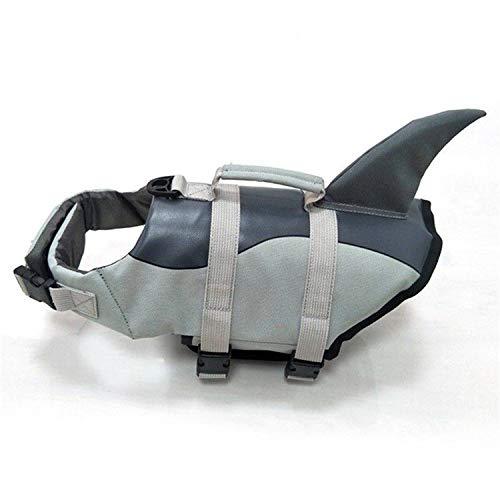SHUTAO Chaleco Salvavidas para Perros Chaleco Salvavidas para Perros Grande Chaleco Salvavidas tamaño tiburón L