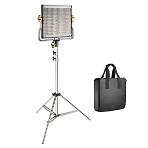 Neewer 480 LED Video Light with 78.7-inch Stainless Steel Light Stand Kit: Dimmable Bi-color LED Panel Lights with U Bracket (3200-5600K,CRI 96+) for Photo Studio Portrait, YouTube Video Photography
