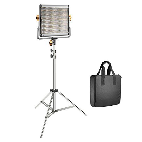 Neewer 480 LED Video Light with 78.7-inch Stainless Steel Light Stand Kit: Dimmable Bi-color LED Panel Lights with U Bracket (3200-5600K,CRI 96+) for Photo Studio Portrait, YouTube Video Photography by Neewer