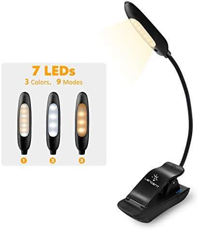 LENCENT Rechargeable Brightness Bookworms Lightweight