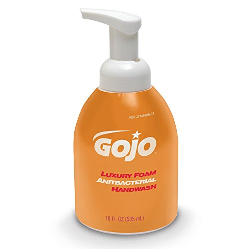 GOJO 5762-04 18 Oz. Luxury Foam Antibacterial Handwash (Case of (Foam Hand Wash Soap Pump)
