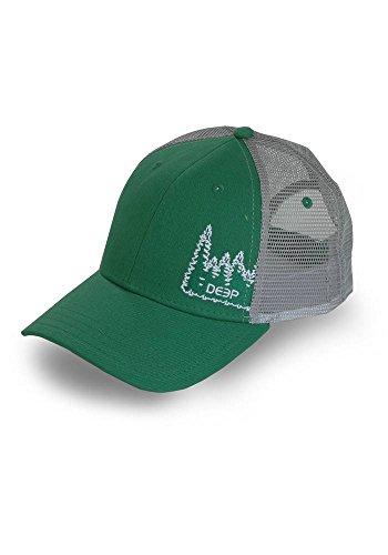 Womens Trucker Hat (Deep Ocean Treeline Trucker Hat, Green, One)