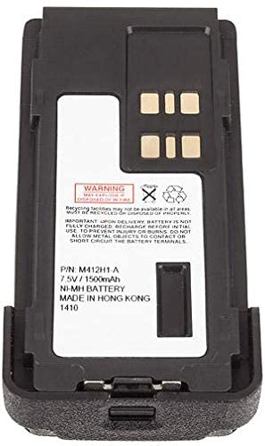 Replacement for Motorola PMNN4409BR Battery Rechargeable Two Way Radio 7.5v 1500mAH Ni-MH
