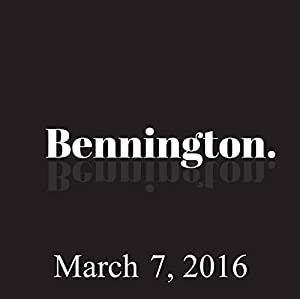Bennington, Judah Friedlander, March 7, 2016 Radio/TV Program