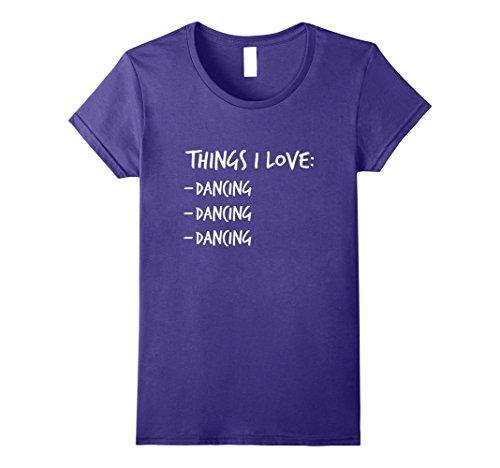 Womens Funny Dancing T Shirt Dancer gift for Women Men Teens & Kids Medium Purple