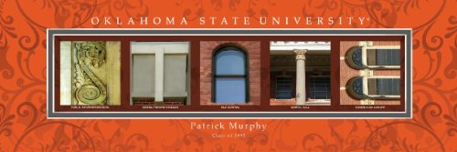 Oklahoma State University Framed Architecture Print in Wood Frame