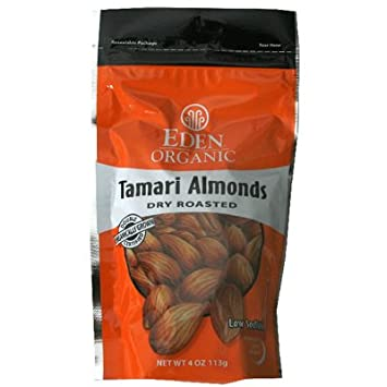 Amazon com : Eden Foods Organic Tamari Almonds Dry Roasted 4