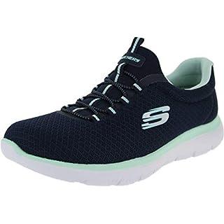 Skechers Sport Women's Summits Sneaker,navy aqua,9 W US
