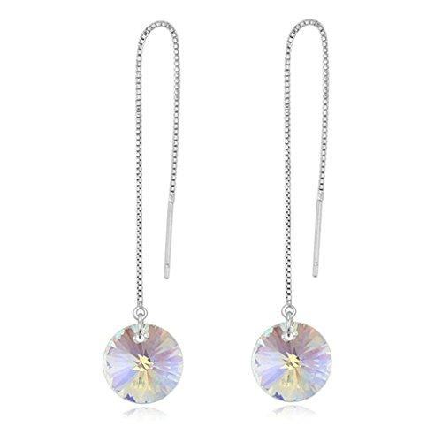 Daesar Gold Plated Earrings Womens Drop Earrings Cubic Zirconia Earrings Teardrop Earring