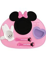 日亚:凑单新低价, NISHIKI KASEI 锦化成 迪士尼米妮餐具套装(带叉和勺子)