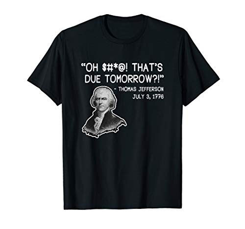 Thomas Jefferson Shirt History Teacher Gift T-Shirt (Thomas Jefferson Separation Of Church And State Quote)