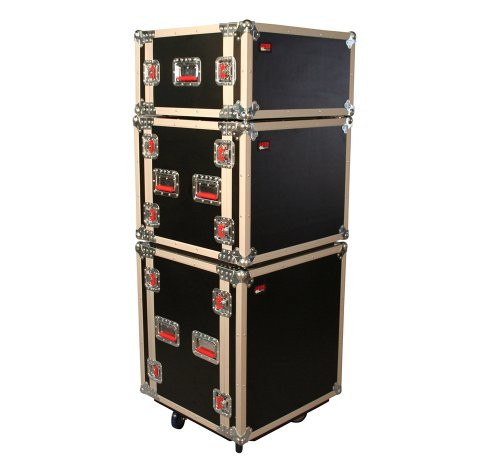 Road Rack Case with Casters (G-TOUR SHK8 CAS) (Shock Mount Rack Case)