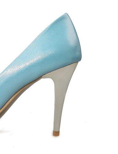 GGX/ Damen / Herren / Mädchen / Unisex-High Heels-Hochzeit / Büro / Kleid / Lässig / Party & Festivität-Mikrofaser-Stöckelabsatz-Absätze-Blau blue-us5 / eu35 / uk3 / cn34