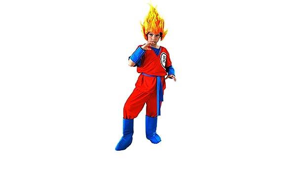 EL CARNAVAL Disfraz Son Goku Talla de 8 a 10 Años: Amazon.es: Juguetes y juegos