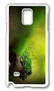 MOKSHOP Adorable green moss Hard Case Protective Shell Cell Phone Cover For Samsung Galaxy Note 4 - PC White