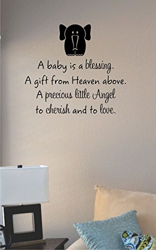 Amazoncom A Baby Is A Blessing Vinyl Wall Art Decal Sticker Home