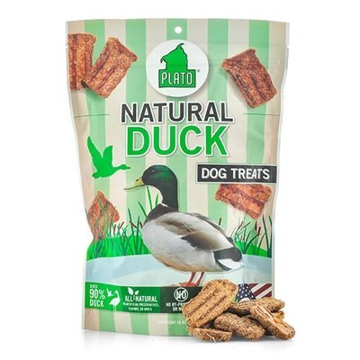 Plato Natural Dog Treats - Duck Strips 16oz (3 Pack)