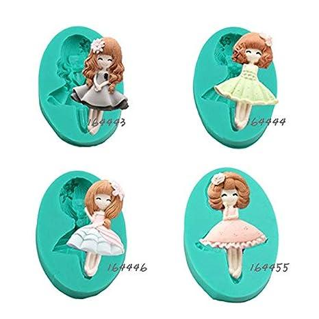 Fiesta 164446 - Molde de silicona para repostería de muñecas, diseño de Barbie en 3D: Amazon.es: Hogar