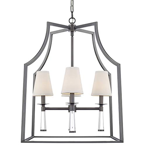 Crystorama 8864-OR Transitional Four Light Chandelier from Baxter collection in Bronze/Darkfinish,