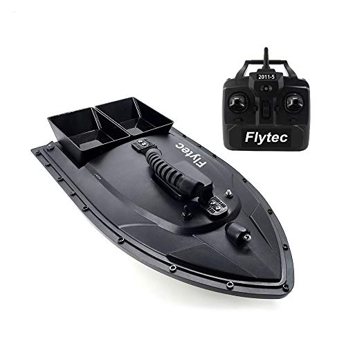 CSSD Remote Control Fishing Bait Boat Fish Finder 1.5kg Feed Delivery Loading 500m Remote Control Fishing Bait Boat RC Boat(Ship from US) (23.6 × 12.2 × 7.9in, Black)