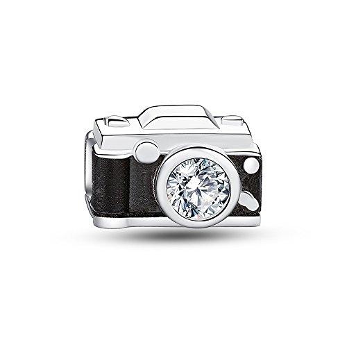 Sterling Silver Camera Charm - Glamulet Art - Camera Charm - 925 Sterling Silver