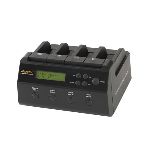 Aleratec 350117 1:3 HDD Copy Dock 4-Bay Duplicator/Dock with USB3.0 and eSATA Connectivity by Aleratec