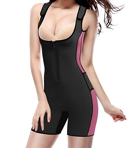 BRABIC Women's Full Body Shapewear Sport Sweat Neoprene Suit,Waist Trainer Bodysuit Adjustable Straps Weight Loss