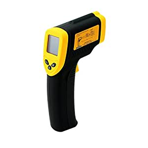 Carejoy® DT-8380 Non-Contact Infrared (IR) Thermometer Instant-read Digital Temperature Gun with Laser Sight and Backlit LCD, Measures in Celsius or Fahrenheit -32 to +380C/-26 to +716F