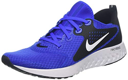 (Nike Men's Legend React Running Shoe Hyper Royal/White/Black (US 9.5))