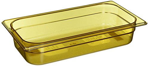 Rubbermaid Commercial Products FG216P00AMBR Hot Food Pan, 1/3 Size, 2 5/8 quart, Amber by Rubbermaid Commercial Products