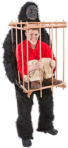 Gorilla & Cage Adult Costume -