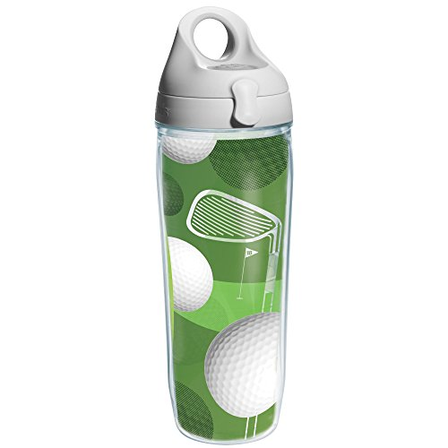 Tervis Golf Balls Wrap and Water Bottle with Grey Lid, 24-Ounce, Beverage