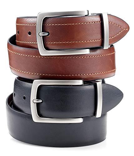 Club Room Reversible Leather Belt (32, Brown) - Club Belt Reversible Room