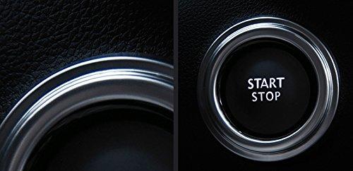 Int/érieur en acier inoxydable de voiture Moteur allumage Push Start Button Starter Switch Coque Trim 1 PC pour Koleos 2017-2019 accessoire Auto