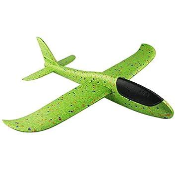 c09cc3d7b13542 手投げ グライダー 飛行機 モデル 回転飛行 知育おもちゃ 指先鍛え 発泡製 軽量 ソフト 組み立て