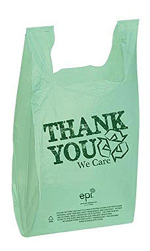 California Bookcase Cabinet - 11 ½ x 6 x 21 inch EPI Plastic T-Shirt Bags - Case of 500