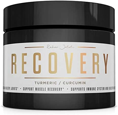 Recovery Turmeric Curcumin Workout Powder Drink Mix Natural Anti-inflammatory Muscle Joint Repair, Immune System Support, Gut Health with Ginger Bromelain