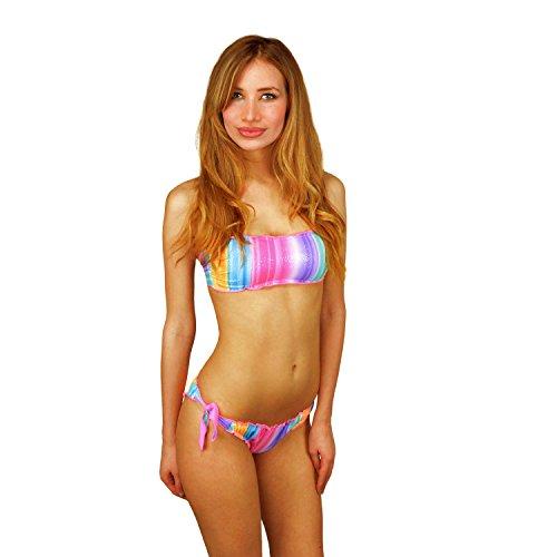 Rosa imbottite mws KL211 Costume fascia mod 44 con a coppe brasiliana Swish removibili bikini OwqT18a