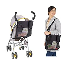 Multi-function Baby Stroller Organizer Pushchair Storage Bag Diaper Bag BLACK