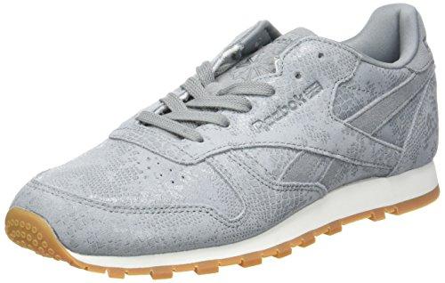 Flint Grey Donna Classic Clean Sneaker Grigio Chalk Reebok Gum Exotics TYAw0q