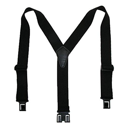Perry Suspenders Mens Elastic Ruf-N-Tuf Hook End Suspenders (Tall Available), Regular, Black