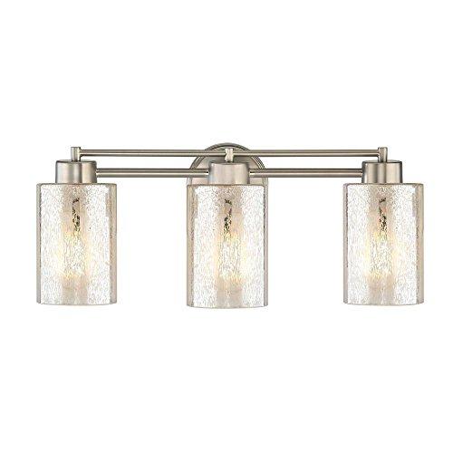 Design Classics Lighting Mercury Glass Bathroom Light Satin Nickel