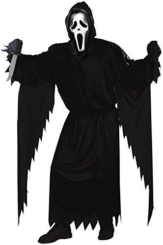 Party City Scream Costume (Fun World Costumes Adult Scream Costume, Black, One Size)
