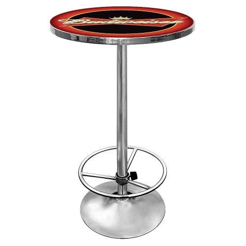 Budweiser Chrome Pub Table