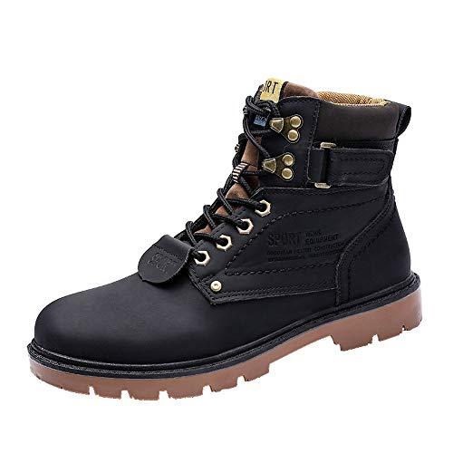 Men's Martin Boots Clearance,Sunyastor Winter Non-Slip Wear-Resistant Retro Boots Outdoor Tooling Plus Size Warm Shoes