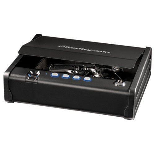 SentrySafe Pistol Safe, Quick Access Biometric Gun Safe, Single Gun Capacity, QAP1BE (Safe Gun Standard)