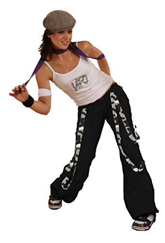 UFO Girls Strappy Pant with Camo Straps, Black with Urban Camo (Large) (Ufo Pants Girl)