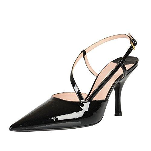 Miu Miu Black Patent Leather Pointy Toe High Heel Pumps Shoes US 5 IT - Black Miu Shoes Miu