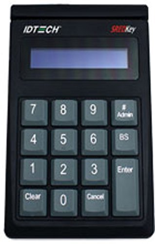Idtech IDSK-534833TEB PCI Key Pad with Encrypted MagStripe Card Reader, Key Pad and MSR, Track 3, TDES Encryption, Enhanced Format, USB-Keyboard, Black (Idtech Card Reader)